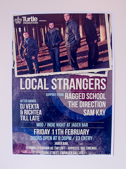 Sample poster promoting the Local Strangers